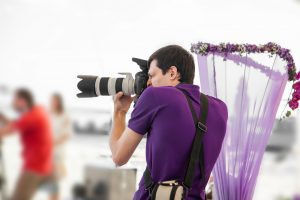 event photographer in action